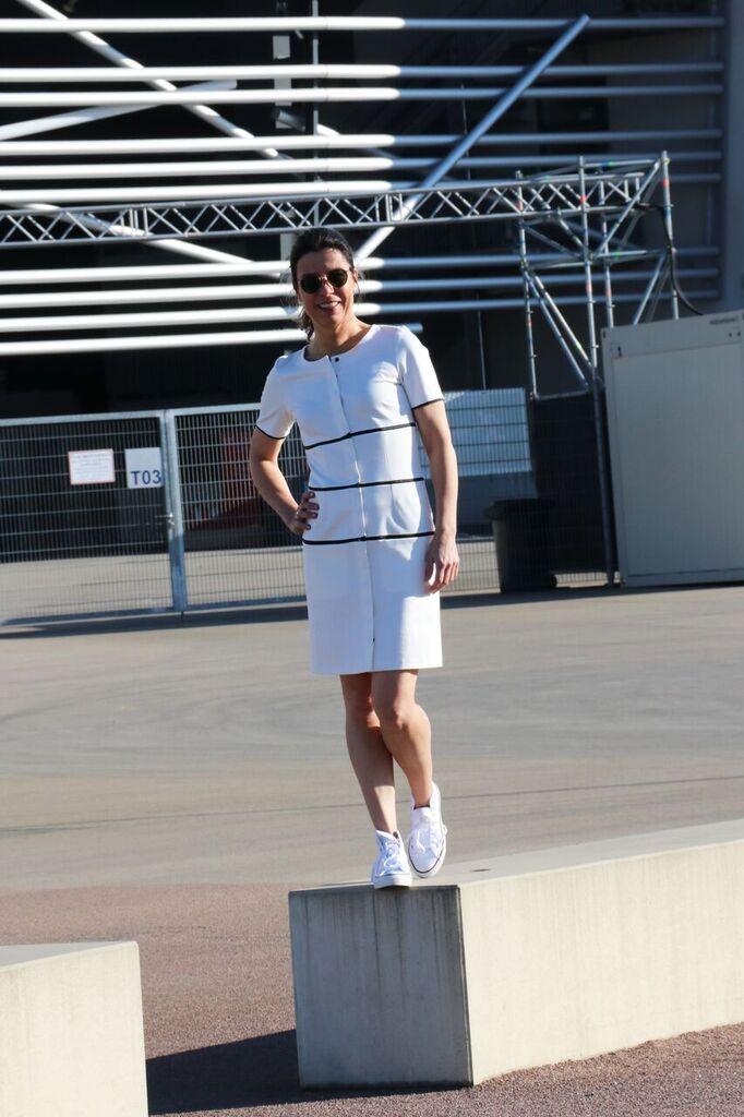 simple dress, zip your style by Tanja Müller