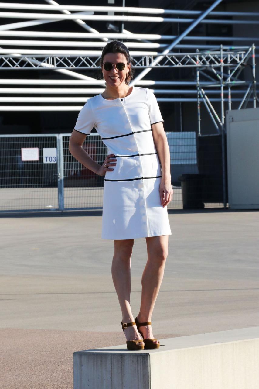 simple dress siena weiß, zip your style, Tanja Müller,