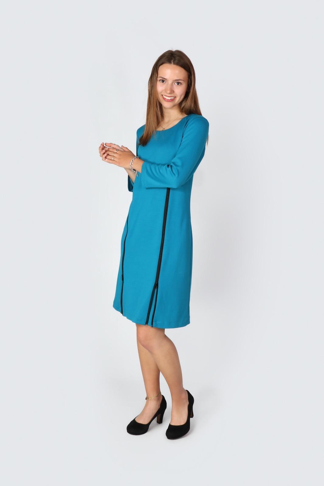 Kleid St Tropez Turkis Simple Dress Tanja Muller